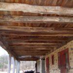 Cantalievered barn sleepers intact in barn
