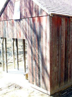 Painted Barn Siding