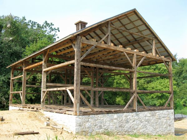 Trussell 39 s barn old reclaimed wood pennsylvania 18944 for Timber frame plans for sale