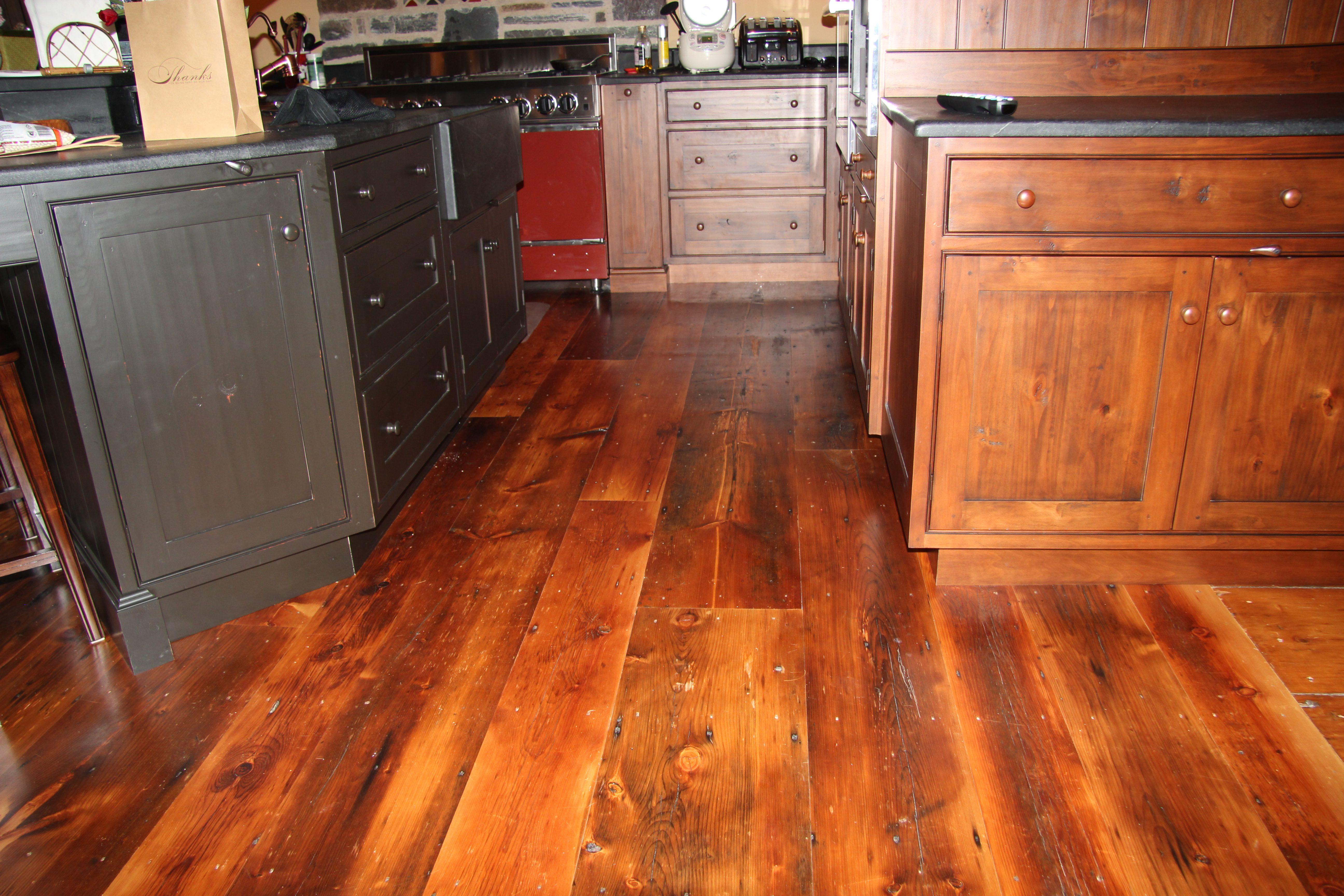 "White Pine ""Pumpkin Pine"" Flooring"