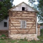 Beehive cabin prior to dismantling