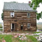 Original cabin prior to dismantling
