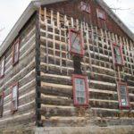 Side/back of log cabin
