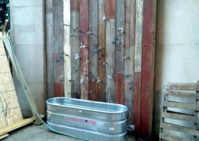 Reclaimed Weathered Painted Planking Example