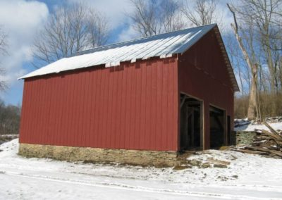 Painted Reproduction Barn Siding Example