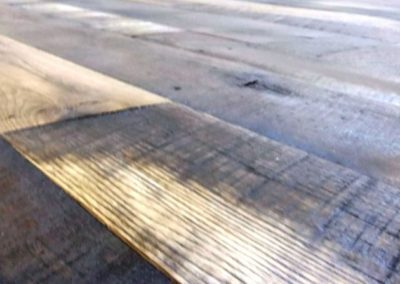 Reclaimed Skip Planed Oak Flooring Example
