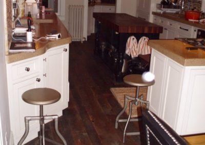Reclaimed Skip Planed Oak Flooring Installed Example
