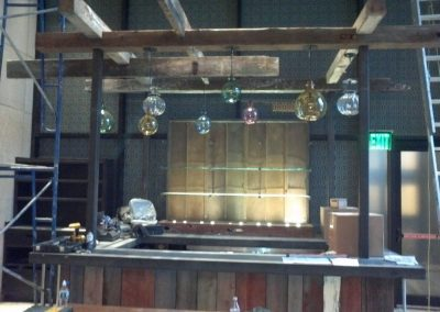 Reclaimed Wood Bar Example