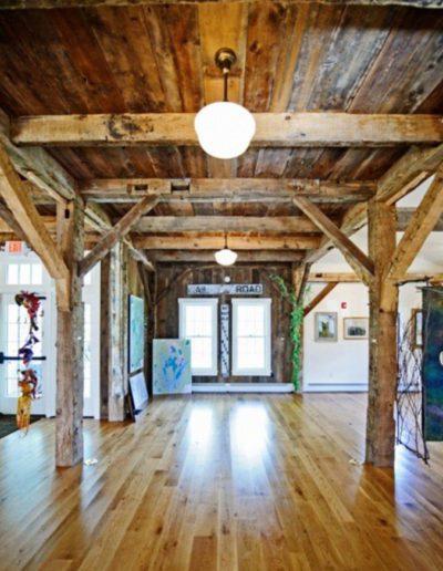Resawn heart pine flooring example