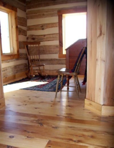 Resawn heart pine flooring example