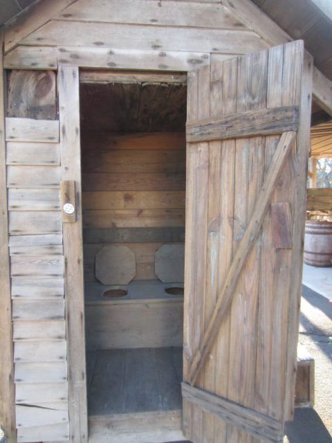 Antique Outhouse Cira 1800s Perkasie Bucks County Pa