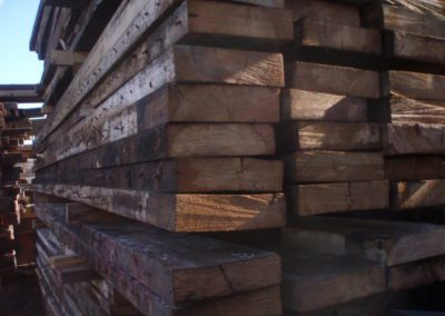 Stack of joists ready for use