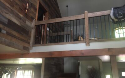 Shiplapped Walls & Iron Railing