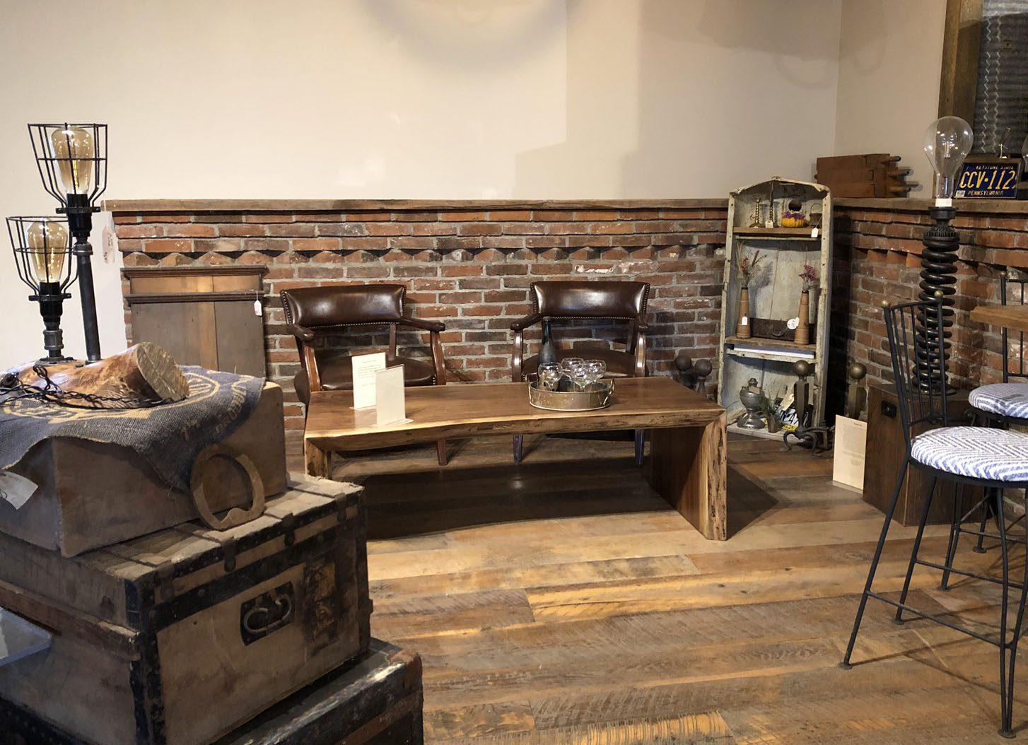 Reclaimed skipped planed oak flooring example