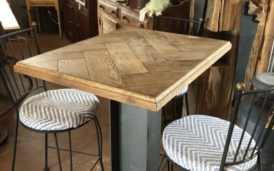 Coop's Oak Herringbone Pub Table